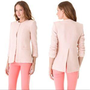 Alice and Olivia - Tweed frayed box blazer jacket